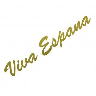 20cm gold Viva Espana Schriftzug Aufkleber Tattoo Auto Tür Fenster Deko Folie