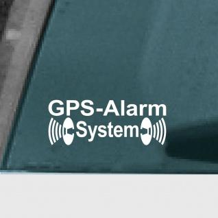10 Aufkleber Tattoo GPS Alarm System weiß Auto Fenster Außen getönte Scheibe