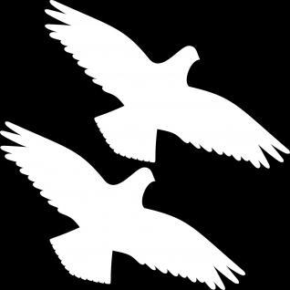 2 Aufkleber 30cm weiß Vogel Warnvogel Tattoo Fenster Scheibe Schutz Deko Folie