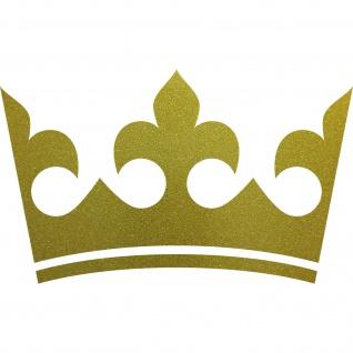 30cm gold Krone König Aufkleber Tattoo Kinder Zimmer Auto Heck Fenster Tür Möbel