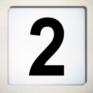 Ziffer 2 schwarz 15cm Aufkleber Tattoo Nummer Zahl Hausnummer Haus Tür Mülltonne