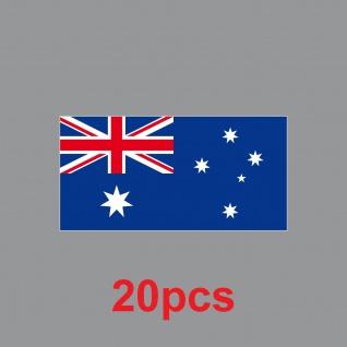 20 Aufkleber 6, 5cm Sticker AUS AU Australien Fußball Deko EM WM Flagge Fahne - Vorschau 2
