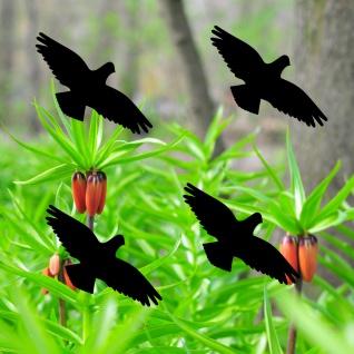 Warnvögel 10cm schwarz Habicht Warnvogel Aufkleber Vogel Fenster Scheibe Schutz