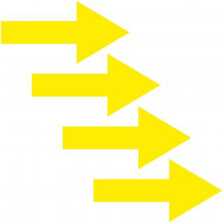Aufkleber Pfeil 30cm gelb breit Tattoo Auto Tür Tor Weg Hinweis Lauf Richtung