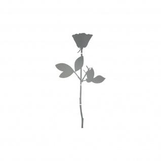 Rose 6cm silber Handy Auto Tür Fenster Deko Folie Depeche Mode Aufkleber Tattoo