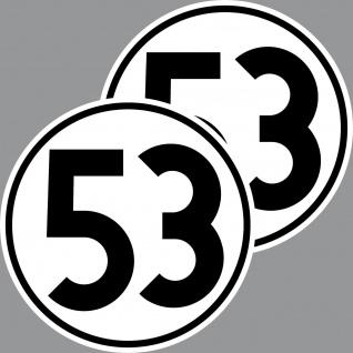 2 Aufkleber 15cm Herbie Nr 53 Start Nummer Ziffer Zahl Racing Auto Motor Sport - Vorschau 1