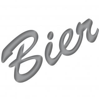 Bier 15cm silber Aufkleber Tattoo Deko Folie Schriftzug Küche Bar Kühlschrank