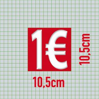 1 € Euro Zeichen Symbol Aufkleber Sticker Rabatt Aktion Sale Angebot Ausverkauf - Vorschau 2