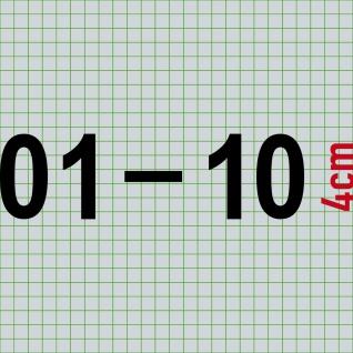 01 - 10 zweistellige Ziffern 4cm Zahlen Haus Zimmer Nummern Aufkleber Tattoo - Vorschau 2