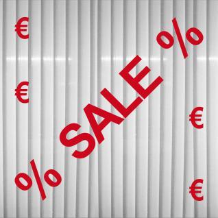 Aufkleber Tattoo Schaufenster Deko Folie Schriftzug Sale Prozent Rabatt Angebot