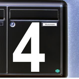 Ziffer Nr 4 weiß 15cm Zahl Hausnummer Haus Nummer Aufkleber Tattoo Deko Folie
