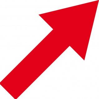 Aufkleber Pfeil 30cm rot breit Tattoo Auto Bus Tür Tor Weg Hinweis Lauf Richtung