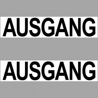 2 Aufkleber 20cm Ausgang Sticker Hinweis Wegweiser Haus Tür Wand Empfang Schild