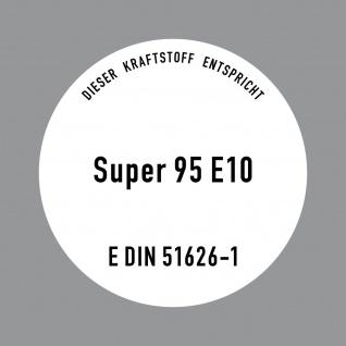 Aufkleber 10cm Super Benzin 95 E10 Kraftstoff Tankstelle Sticker Tank Zapfsäule - Vorschau 1
