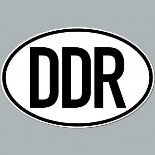 DDR Aufkleber Sticker Auto Pkw Kfz Kennzeichen Länderkennzeichen Deutschland GDR