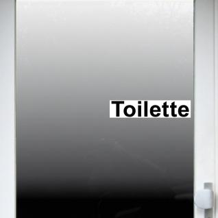 2 Aufkleber 20cm Toilette Sticker Hinweis für WC Bad 00 Klo Tür Toilettentür - Vorschau 3