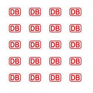 20 Aufkleber 1cm rot DB Deutsche Bahn Zeichen Modellbau Mini Sticker RC Deko