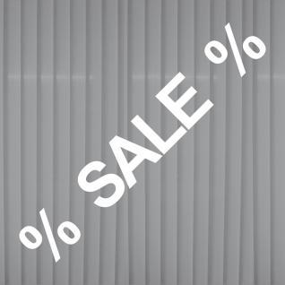 Aufkleber SALE 65cm weiß + 2 % Zeichen Verkauf Rabatt Aktion Fenster Deko Folie