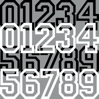 30cm Aufkleber Tattoo Auto Kart Haus Tür Nummer Zahl Ziffer Startnummer Racing