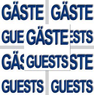 5 Aufkleber 5cm Sticker Gäste Guests Handtuch Hinweis Bad WC 00 Fliesen Spiegel - Vorschau 3