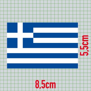 20 Aufkleber 8, 5cm Sticker GR Griechenland Fußball EM WM National Flagge Fahne - Vorschau 2