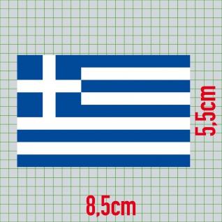 5 Aufkleber 8, 5cm Sticker GR Griechenland Fußball EM WM National Flagge Fahne - Vorschau 2