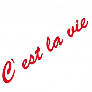 20cm rot C est la vie Schriftzug Aufkleber Tattoo Auto Tür Fenster Deko Folie