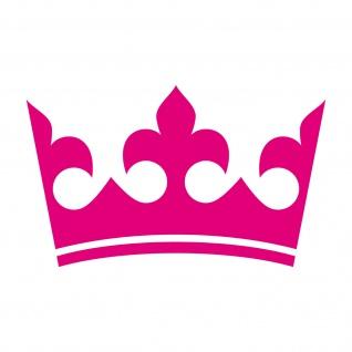 20cm pink Krone König Aufkleber Tattoo Kinder Zimmer Auto Heck Fenster Tür Möbel