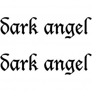 2 Aufkleber dark angel 30cm schwarz Auto Heck Tür Tattoo Deko Folie Gothic