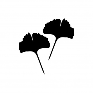 1 Paar 2 Blätter 15cm schwarz voll Ginkgo Blatt Aufkleber Tattoo Ginko Gingko