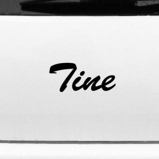 Tine 17cm Kinderzimmer Name Aufkleber Tattoo Deko Folie Auto Fenster Schrank Tür
