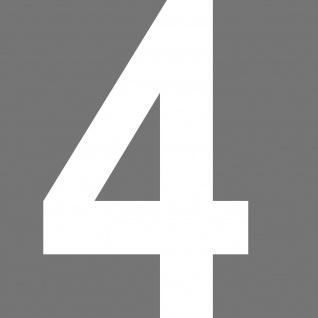 Nr 4 Aufkleber 30cm weiß Tattoo Hausnummer Haus Tür Fenster Zahl Nummer Ziffer