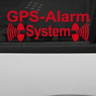 GPS Alarm System rot gespiegelt für Fensterscheibe Schaufenster Aufkleber Tattoo