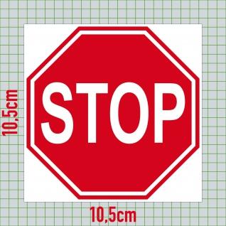 1 Aufkleber 7cm Sticker STOP Schild Hinweis Warnung Halt Achtung 4061963009642 - Vorschau 2