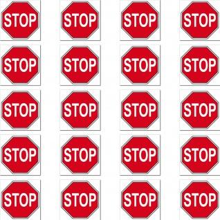 20 Aufkleber 2cm STOP Schild Zeichen Symbol Modellbau Mini Sticker 4061963009482
