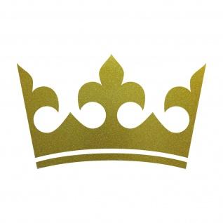 20cm gold Krone König Aufkleber Tattoo Kinder Zimmer Auto Heck Fenster Tür Möbel