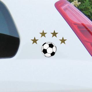 Set Fußball EM WM Weltmeister gold Sterne Fußbälle Aufkleber Tattoo Deko Folie