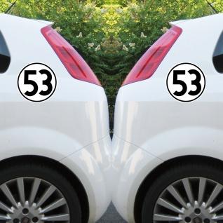 2 Aufkleber 15cm Herbie Nr 53 Start Nummer Ziffer Zahl Racing Auto Motor Sport - Vorschau 5