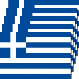 5 Stück 8, 5cm Aufkleber Sticker Griechenland Fußball EM WM National Flagge Fahne
