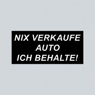 4 Aufkleber Sticker STOP Visitenkarten Werbung Nix Verkaufe Auto ich behalte !