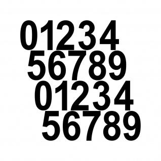 20 Aufkleber Tattoo 4cm schwarz Zahl Zimmer Haus Tür Spind Start Nummer Ziffer