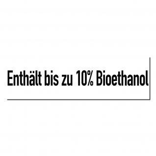 Aufkleber Sticker Tankstelle Zapfsäule Benzin Enthält bis zu 10% Bioethanol