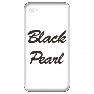 2 Aufkleber 6cm matt schwarz Black Pearl Handy smartphone iPhone Tattoo Folie