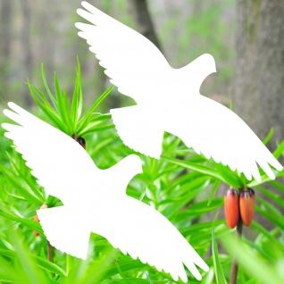 Warnvögel 35cm weiß Habicht Vögel Warnvogel Aufkleber Vogel Glas Fenster Schutz