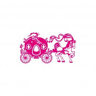 30cm Aufkleber Tattoo Maerchenhafte Pferdekutsche Pferd Kutsche einer Prinzessin