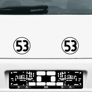 2 Aufkleber 15cm Herbie Nr 53 Start Nummer Ziffer Zahl Racing Auto Motor Sport - Vorschau 3