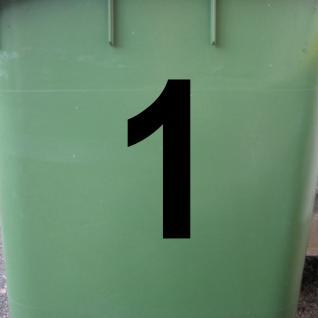 Ziffer 1 schwarz 12cm Aufkleber Tattoo Nummer Zahl Hausnummer Haus Tür Mülltonne - Vorschau 2
