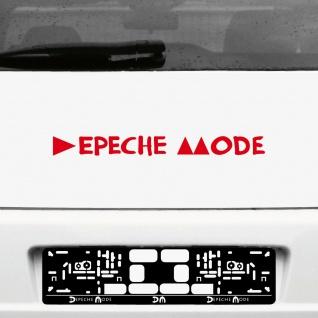 Aufkleber Tattoo 45cm rot Delta Schriftzug Auto Heck Tür Deko Folie Depeche Mode