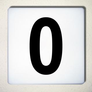 Ziffer 0 schwarz 15cm Aufkleber Tattoo Nummer Zahl Hausnummer Haus Tür Mülltonne - Vorschau 1
