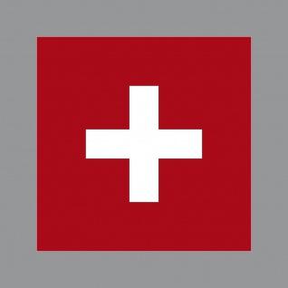 Aufkleber 7cm Sticker SUI Swiss Schweiz Flagge Fahne Fußball Fan EM WM Deko